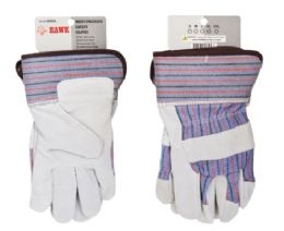 24 Wholesale Leather Working Gloves In Size Large