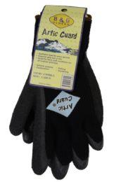 24 Wholesale Winter Work Gloves Black In Size XLarge