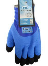 24 Wholesale Winter Work Gloves Blue In XXLarge