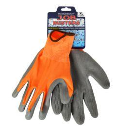 36 Wholesale Work Gloves With Honeycomb Grip Orange Size Large