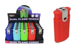 25 Units of Dual Lighter Flame And Torch - Lighters