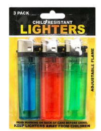 108 Units of Lighters 3 Pack - Lighters