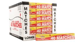 96 Units of Wood Matches 40 Count Long BBQ - Lighters