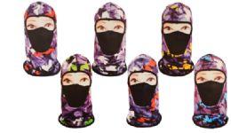 36 Units of Balaclava Mask Camo Stars - Unisex Ski Masks