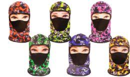 36 Units of Balaclava Mask Flame Skulls - Unisex Ski Masks