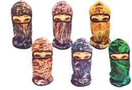 36 Units of Balaclava Mask In Wooded Camo - Unisex Ski Masks