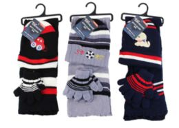 24 Units of Boys Winter Scarf And Glove Set - Winter Sets Scarves , Hats & Gloves