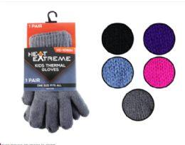35 Bulk Kids Thermal Gloves