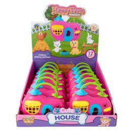 24 Units of Puppy House Play Set - 6 Piece Set - Dolls
