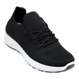12 Units of Women's Breathable Fitness Sneakers w/ Elastic Laces - Women's Sneakers