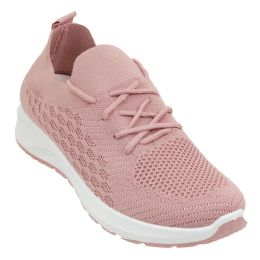 12 Units of Women's Breathable Fitness Vent Sneakers w/ Elastic Laces - Women's Sneakers