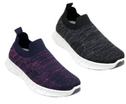 12 Units of Women's Breathable Heathered Fitness Slip-On Sneakers - Choose Your Color(s) - Women's Sneakers