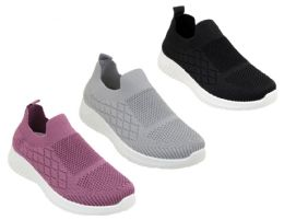 12 Units of Women's Breathable Fitness Vent Slip-On Sneakers - Choose Your Color(s) - Women's Sneakers