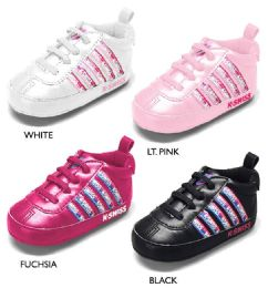 18 Units of Infant Girl's Sneakers w/ Logo Webbing Detail & Elastic Laces - Girls Sneakers