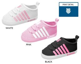 18 Units of Infant Girl's Mesh Sneakers w/ Elastic Laces, Contrast Stripes, & Logo - Girls Sneakers