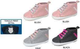 18 Units of Infant Girl's Sneakers w/ Elastic Laces & Printed Logo - Girls Sneakers