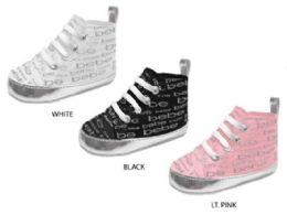 24 Units of Infant Girl's High Top Sneakers w/ Printed Bebe Logo - Girls Sneakers
