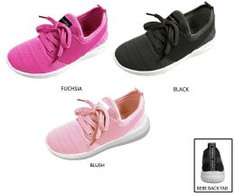12 Units of Girl's Mesh Jogger Sneakers w/ Bebe Patch - Girls Sneakers