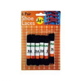 24 Wholesale Black Shoe Laces