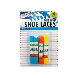 12 Wholesale Kids Colored Shoelaces