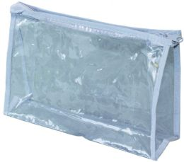 """500 Units of Clear Vinyl Zippered Pouches 8""""(W) x 5""""(H) x 2 3/8"""" (Gusset) - Cosmetic Cases"""