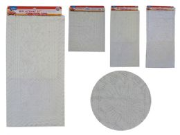 48 Units of 3 Piece Center Table Mat And Placemat Set White Beige - Placemats