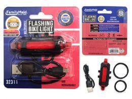 48 Bulk Bike Usb Rechargeable Flashing Light