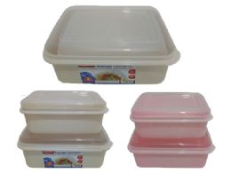 48 Units of Food Storage Rectangle Container Assorted - Food Storage Containers