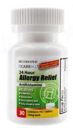 24 Bulk Allergy Relief - Cetirizine 10mg (Compare to Zyrtec) - 30/Bottle