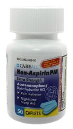 24 Bulk Acetaminophen PM Caplets, 500mg, 50/bt