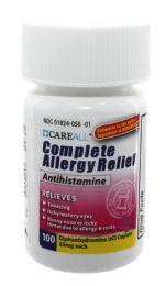 24 Bulk Diphenhydramine Caplets, 100/bt
