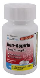 24 Bulk Acetaminophen Tablets, 500mg, 100/bt