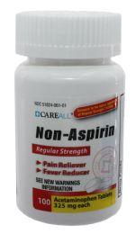 24 Bulk Acetaminophen Tablets, 325mg, 100/bt