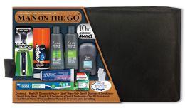 3 Bulk Men's Deluxe Travel Hygiene Convenience Kits - 9 pc. in Premium Travel Bag