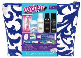 3 Bulk Women's Deluxe Travel Hygiene Convenience Kits - 9 pc. in Premium Travel Bag