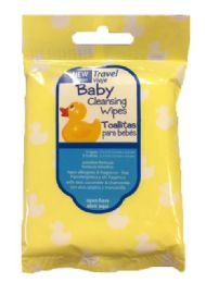 200 Wholesale Baby Travel Cleansing Wipes - 8-Packs