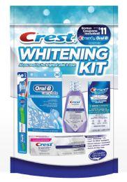 4 Bulk Crest Whitening Starter Hygiene Convenience Kits - 5pc