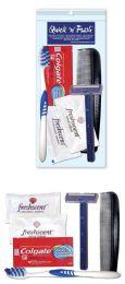 25 Bulk Unisex Value Mini Travel Hygiene Convenience Kits - 6 pc.