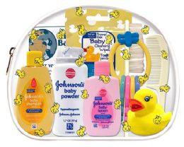 6 Bulk Baby Travel Hygiene Convenience Bath Kits - 9 pc. in Zippered Vinyl Bag