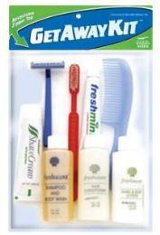 12 Bulk Unisex Value Travel Hygiene Convenience Kits - 8 pc. in Resealable Zip Lock Bag