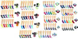 180 Bulk Women's & Children's Novelty Low-cut Socks Combo