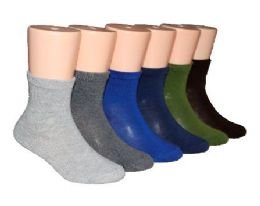 480 Bulk Toddler's Novelty Crew Socks - Solid Colors - Size 2-4