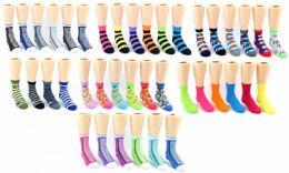120 Units of Boy's & Girl's Toddler Novelty Crew Socks - Assorted Prints - Size 2-4 - Boys Ankle Sock