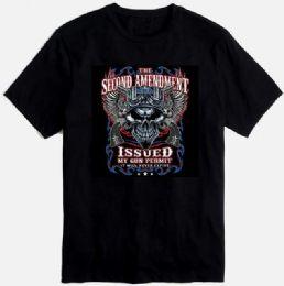 24 Bulk Black T-shirt Second Amendment