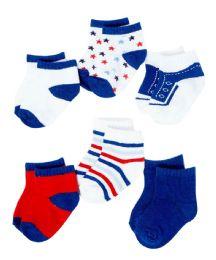 432 Bulk Boy's Knit Graphic Baby Socks