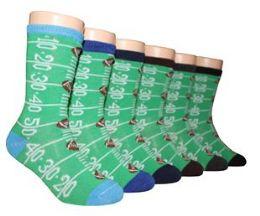 480 Bulk Boy's & Girl's Novelty Crew Socks Football Prints