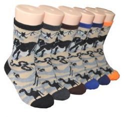 480 Bulk Boy's & Girl's Novelty Crew Socks Animal Prints