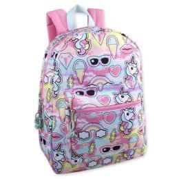 """24 Units of 17 Inch Unicorn Backpack - Backpacks 17"""""""