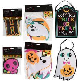 48 Units of Halloween Decorations 6ast Neon Cutouts/plaques/banners - Halloween & Thanksgiving