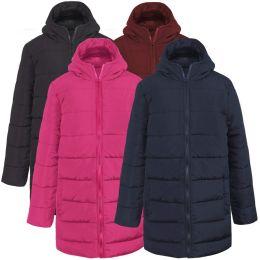 20 Units of Girl's Hooded Puffer Winter Coat - 4 Colors - Junior Kids Winter Wear